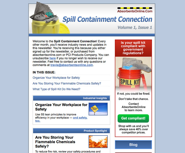 Absorbents Online Spill Containment Connection