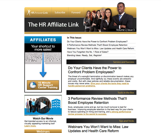 HRAnswerLink The HR Affiliate Link