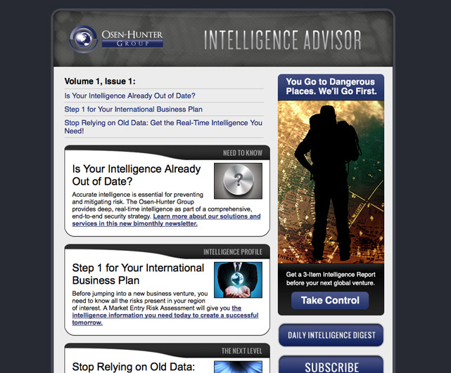 Osen-Hunter Group Intelligence Advisor