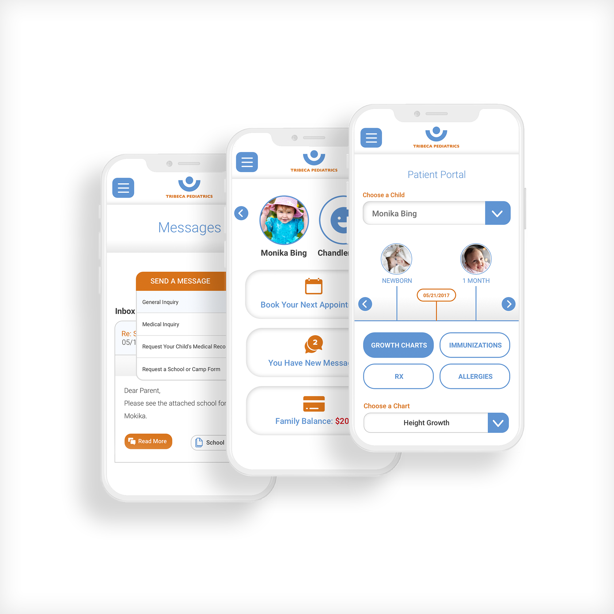 Tribeca Pediatrics Mobile UI/UX Design
