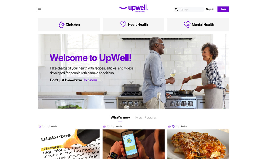 UpWell Community BuddyPress Website